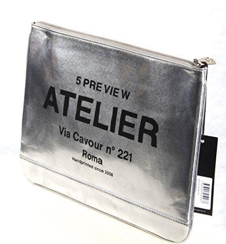 5Preview Borsa A/I 16-17 Mod.AUGUSTA Art.N5180136 Metallic Silver - Taglia unica