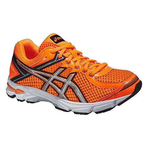 Asics Gt-1000 4 Gs, Chaussures de Running Entrainement Mixte adulte Hot Orange/Silver/Black