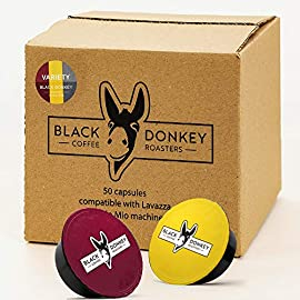 Black Donkey Coffee Roasters – 50 Lavazza A Modo Mio Compatible Capsules (VARIETY PACK)
