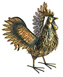 Fountasia Animal Kingdom Dekofigur Hahn mit Flügeln, Metall, Antik-Optik, goldfarben