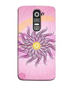 PrintVisa Designer Back Case Cover for LG G3 Mini (Floral Decoration Art Illustration Light Backdrop)