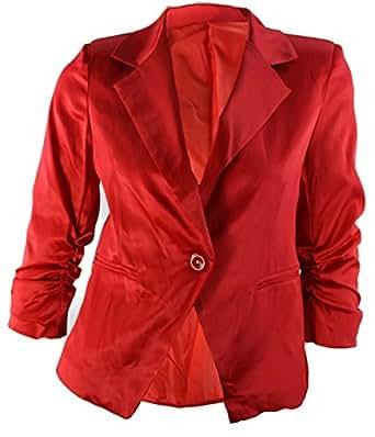 #1170 Damen Designer Blazer Rot Schwarz Weiss 34 36 38 40 (34, Rot)