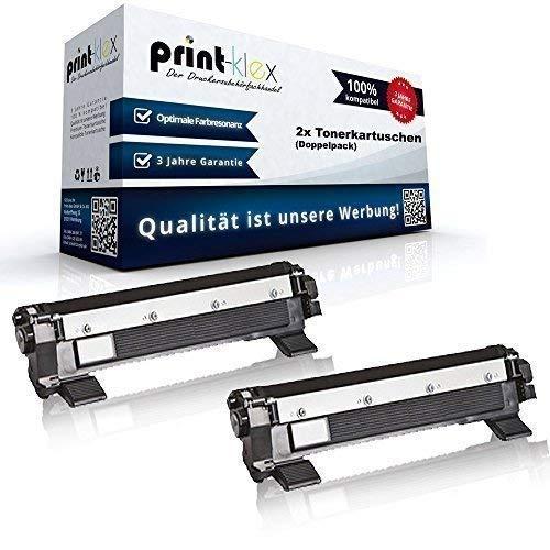 2x kompatible XXL Tonerkartuschen für Brother DCP1610W DCP1612W DCP1616NW Black Schwarz TN1050 TN-1050 Doppelpack - Premium Plus Serie