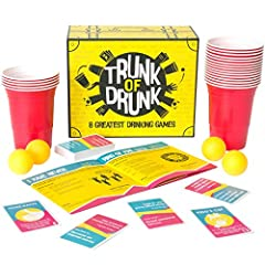 Idea Regalo - Trunk of Drunk - 8 Greatest Drinking Games (Beer Pong, Ring of Fire, Never Have I Ever and more)