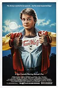 TEEN WOLF - MICHAEL J FOX - UK MOVIE FILM WALL POSTER - 30CM X 43CM