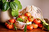 Reusable Organic Cotton Mesh Vegetable Produce Bags for Zero Waste Shopping (1, 1 XLarge, 1 Large, 1 Medium)