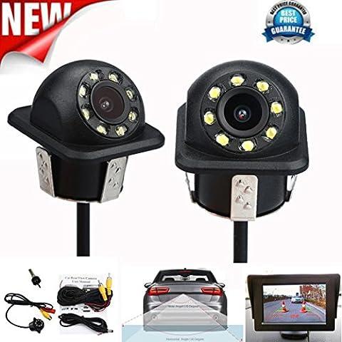 Caméra de recul, Bobogo de CMOS de voiture vue arrière inversée sauvegarde Caméra de recul HD étanche Vision de nuit