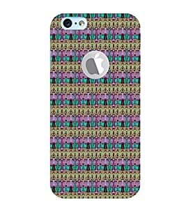 PrintVisa Designer Back Case Cover for Apple iPhone 6S (Logo View Window Case) (Girly Pattern Tribal Floral Fabric Culture Rajastan Andhra)