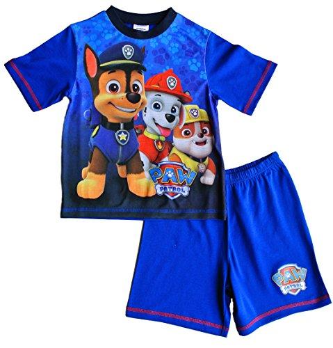 ThePyjamaFactory Jungen Schlafanzug blau blau Gr. 5-6 Jahre, blau (Jungen Pyjama-böden)