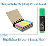#9: Post-it 3M (USA) Pocket size sticky notes (&1 Luxor Highlighter RS 20/-free) Sticky notes by 3M (No.1 brand in Sticky Note) Super quality Notes