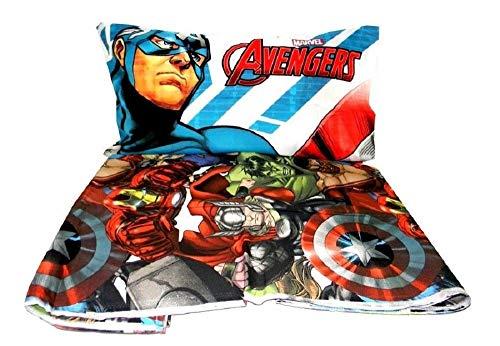 Completo lenzuola Avengers letto singolo MARVEL AVENGERS 3 pz 1 piazza Lenzuolo sopra+ sotto+ federa