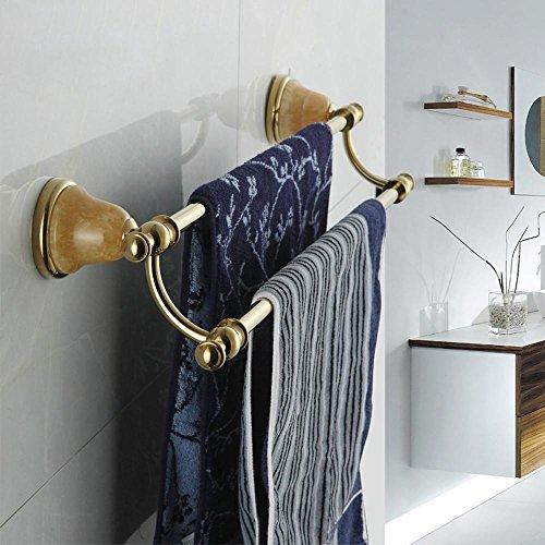 SSBY Europeo antico, bagno portasciugamani, ottone cromato, doppio appeso doppio Giada - Doppio Cesto Appeso