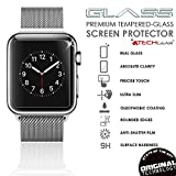 Apple-Watch-Screen-Protector-2-Pack-of-TECHGEAR-Apple-Watch-38mm-GLASS-Edition-Genuine-Tempered-Glass-Screen-Protector-Guard-Cover-for-38mm-Apple-Watch-Watch-Sport-Watch-Edition-Series-2-Series-1