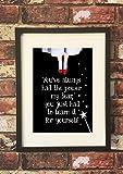 Olive & Maybelle gerahmtes Wandbild Art Inspirierende Motivational Zitat Stilvolle Bild–Dorothy Zauberer von oz Rot Hausschuhe Power Lernen–Schwarz Rahmen