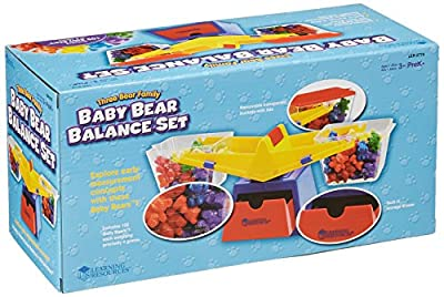 Learning Resources Primary Bucket Balance with Baby Bear Counters by Learning Resources