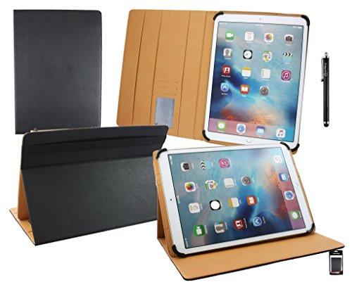 emartbuy Blaupunkt Endeavour 1100 11.6 Zoll Tablet PC Universal Schwarz PremiumPULederMulti-AngleExekutiveFolioGeldbörseTascheHülle Tan InnenraummitKartensteckplätze+Schwarz Stylus