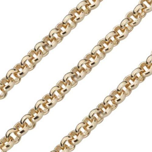 Quoin Damen-Erbskette Kette für Münzen Vergoldet teilvergoldet 60 cm - QK-EG1-60