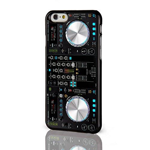 """Apple-Custodia stile retrò per telefono cellulare per iPhone, Serie da collezione, Nostalgic Geeky 11 Design-Cover posteriore rigida """"choose from.""""-Cover posteriore per iPhone, modelli dal iCaseDesigner, plastica, 7. Black DJ Decks, iPhone 6"""