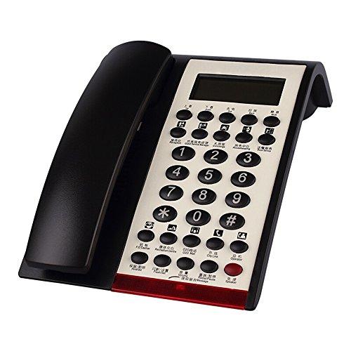 NYDZDM Big Button schnurgebundenes Telefon, Advanced Call Blocker Office Business schnurgebundenes Telefon Handset-schwarz Dar 1 Call