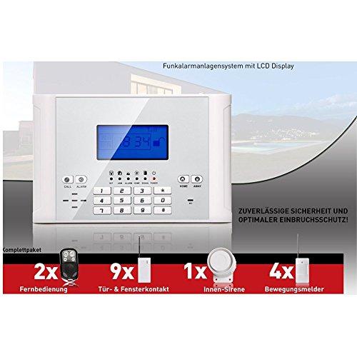 Eyes4u SM Funk Alarmanlage Set-4 M2C (Bestseller, LCD Display, Alarm SMS Anruf, Deutsche Anleitung)