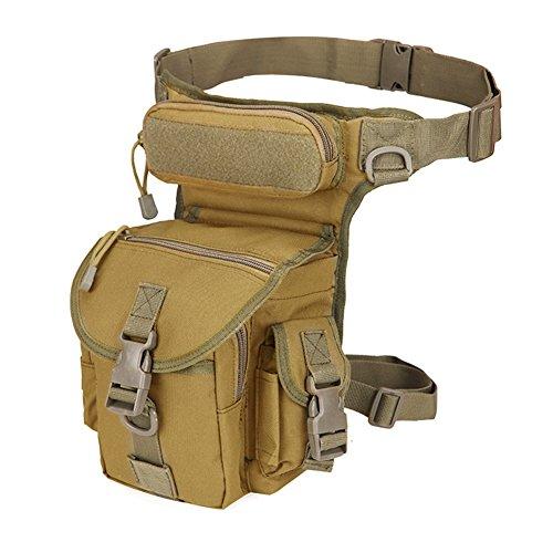 OSISTER7 Wasserdicht Airsoft Tactical Drop Leg Panel Utility Pouch Bag, Kreuz über Bein Rig Oberschenkel-Pack, für Outdoor Radfahren Camping Wandern, 5#