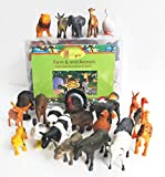 This set of 24 farm animals contain 12 Domestic and 12 Wild animal,with a various range of animals from Lion, giraffe, ostrich , cow , dog, donkey etc Each animal is approximately 8 cm in legnth.