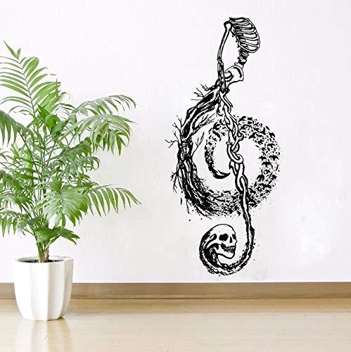BRILLINT.YY Tatuajes De Pared Diseño De Calavera Nota Musical...