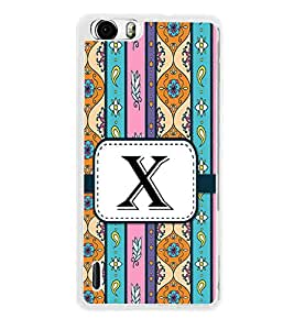 Fiobs Designer Back Case Cover for Huawei Honor 6 (Floral Pattern Design Alphabet X)