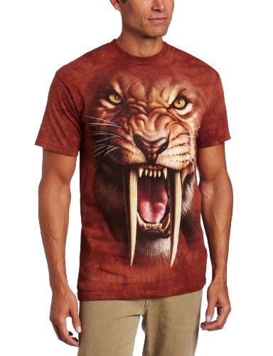 The Mountain - - Männer Sabertooth Tiger T-Shirt, 4X-Large, Multi (Western Shirt 4x)