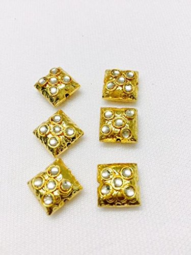3 Pieces of metal buttons for kurtis ethnic dresses indo westorn tops growns blouses