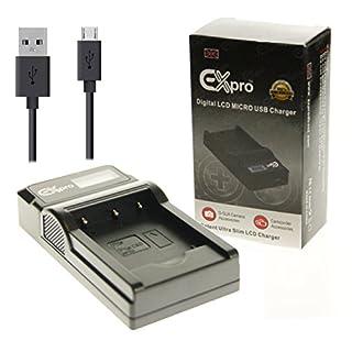Ex-Pro® Olympus BLN-1, BLN1 BCN-1, BCN1 LCD Go-Charge USB Charger for Olympus OM-D E-M1, EM1, E-M5, EM5, PEN E-P5, HLD-6