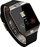 #3: Meya Happy DZ 09 Unisex Bluetooth 4g Smart Watch For Men / Boys / Girls / Women | Facebook / Whatsapp Messaging / 4g Sim Card Support / Touch Screen / Built it Camera / Compatible with All Samsung, Xiaomi, Lenovo, Oppo Android / iOS Apple iPhone Mobile Phones - Silver Color