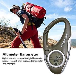 Höhenmesser Barometer mit Thermometer – Wetterwächter zum Klettern Camping Outdoor – -700~9000 Meter Messbereich