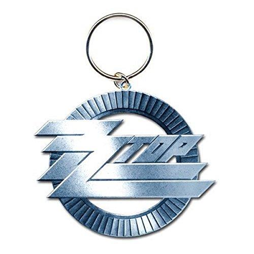 ZZ Top-Portachiavi in metallo Circle Logo Rock Band