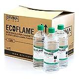BIOETANOLO ECOFLAME Bioetanolo liquido Ecologico Derivato da prodotti vegetali come il mais Massima qualità Adatto a qualsiasi camino a bioetanolo o biocamino Innocuo per la salute