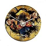 Aux prix canons Ai prezzi cannoni–Orologio da parete di One Piece Manga Luffy Re Swag Deco in vetro