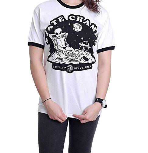 State Champs Alien Ringer White - T-Shirt-Large -