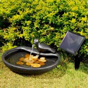 solarbrunnen taube garten. Black Bedroom Furniture Sets. Home Design Ideas