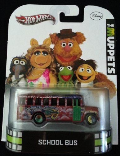 Hot Wheels 2013 Disney The Muppets School Bus Electric Mayhem X8916