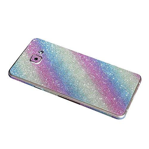 Forepin® Cristallo Bling Strass Adesivi Custodia per Samsung Galaxy A5 (2015) Full Body Bordo Adesivo Sparkle Sticker Case Cover Protettiva - Arcobaleno