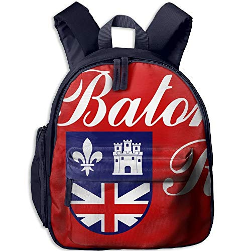 Flag of Baton Rouge Kid and Toddler Student Backpack School Bag Super Bookbag -