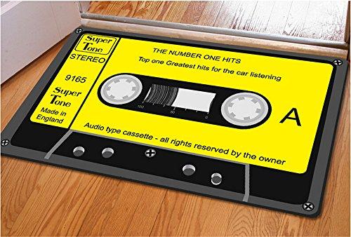 Rubility® 40 * 60 cm zerbini antiscivolo, Mat ultra-sottile, Tappeto tappeto con disegno 3D della Musica di nastro per la camera da letto / Cucina / Bagno / Porta (stile3)