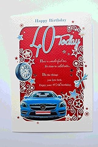 Happy 40th Carte d'anniversaire pour Hommes Mâle 40ans aujourd'hui verset