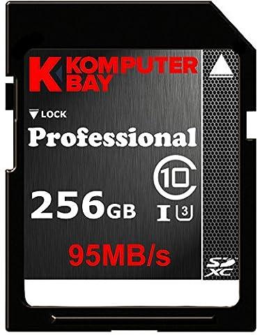 Komputerbay Professionelle 256 GB High Speed SDXC Class 10 UHS-I, U3 bis zu 95 MB / s Flash Card