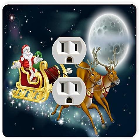 Rikki Knight Santa Delivering Gifts Illustration Single Outlet