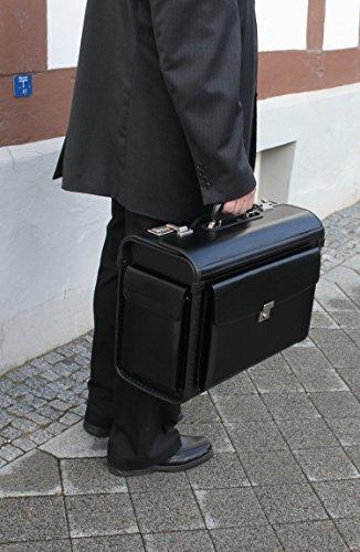 """Pilotenkoffer NEU (2) DN 685 Leder-für Vertreter 15\"""" preisgünstig Business&Travel D&N/lefox"""