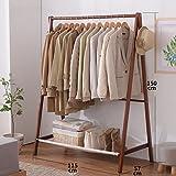 LYM Stehender Huthänger Home Massivholz Kleiderständer, Stehend Mantel Hut Rack Kleiderbügel Zusammenklappbaren Regal Bodenständer ( größe : 115*57*150CM )