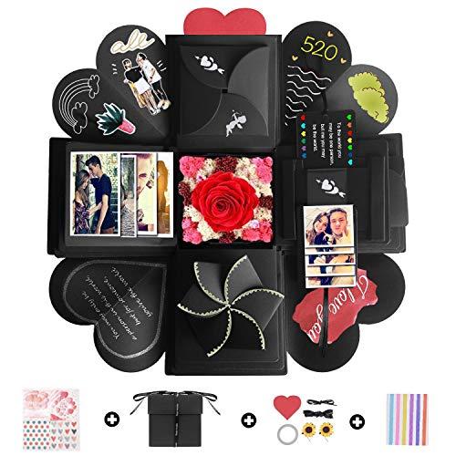 Camelize Kreative Überraschung Box, Explosions-Box,DIY Geschenk Scrapbook,Handgemachtes Faltendes Foto-Album Scrapbook für Hochzeit Geburtstag Jahrestag Valentine,Muttertag,Christmas. -