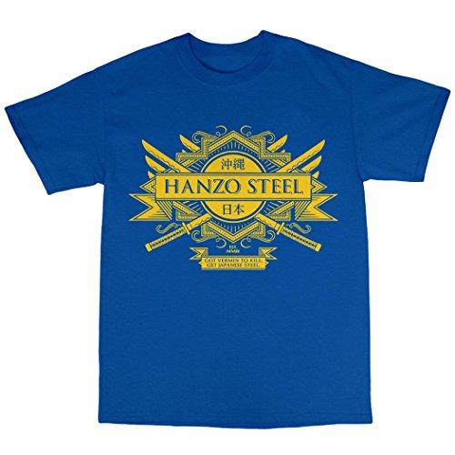 Hanzo Steel T-Shirt 100% Baumwolle Königsblau