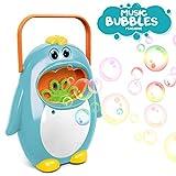 JYToyz Bubble Machine, Automatic Bubble Making Machine Penguin Bubble Blower Maker Kids Toy